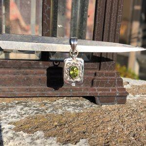 Jewelry - Green Quartz Sterling Silver Wish Locket